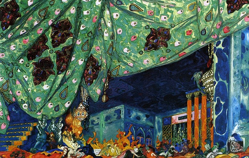 Set design for Scheherazade, (Ballet Russes), Leon Bakst